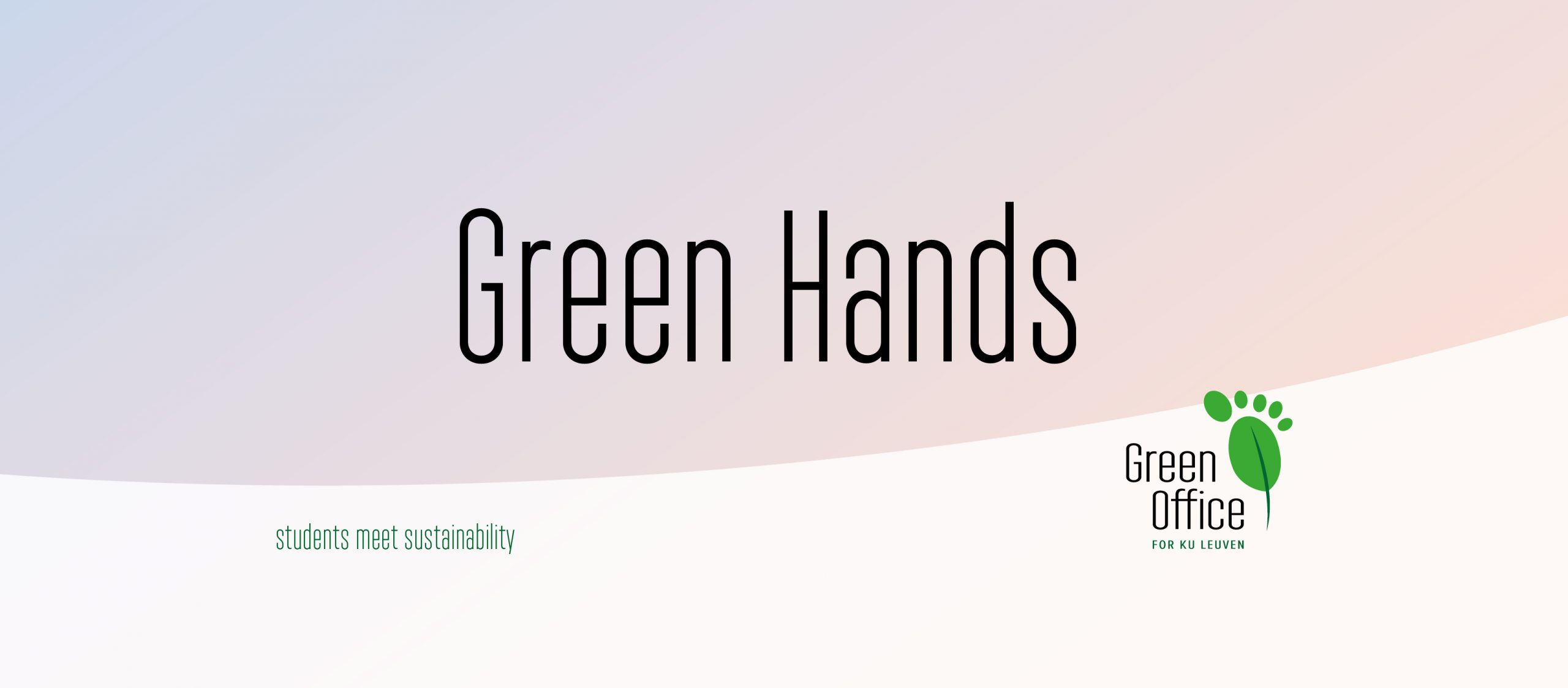 Want to give a hand at the Green Office?