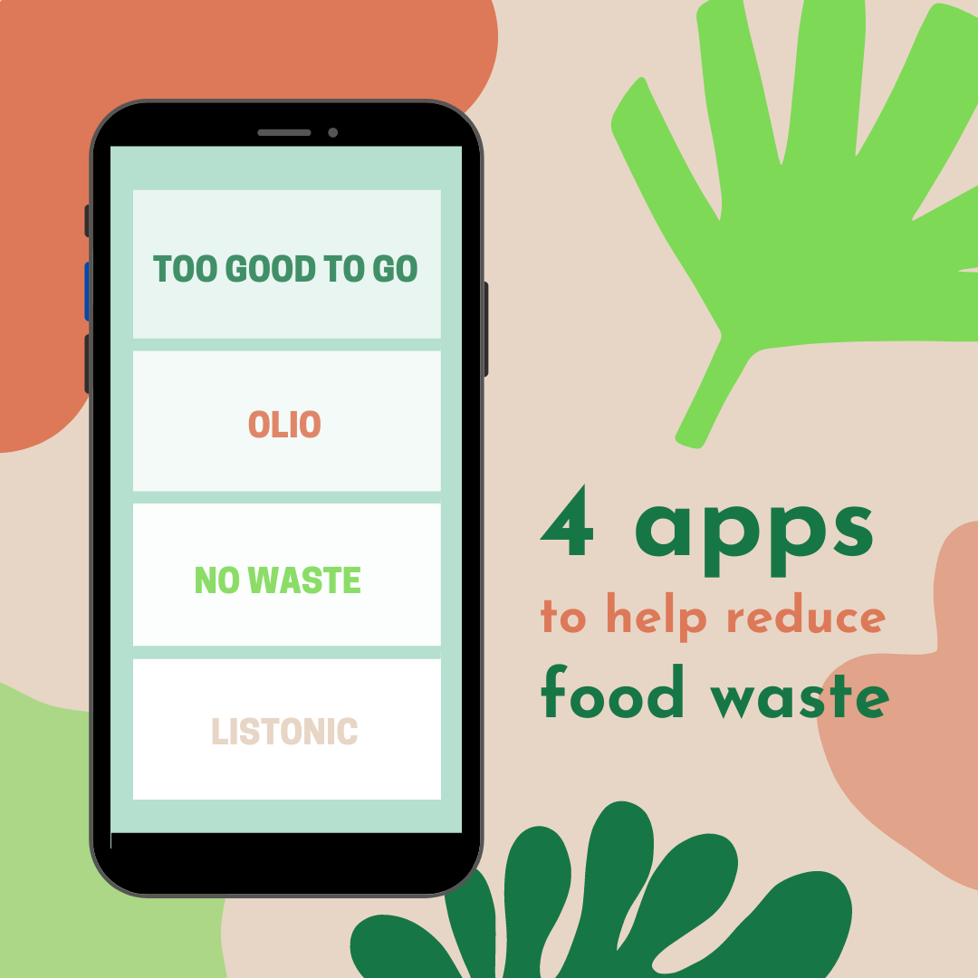 4 apps to help reduce food waste